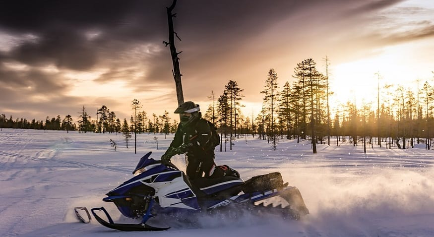 snowmobile theft - snowmobile rider