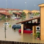 Water Damage Claims - Houses in flood waters
