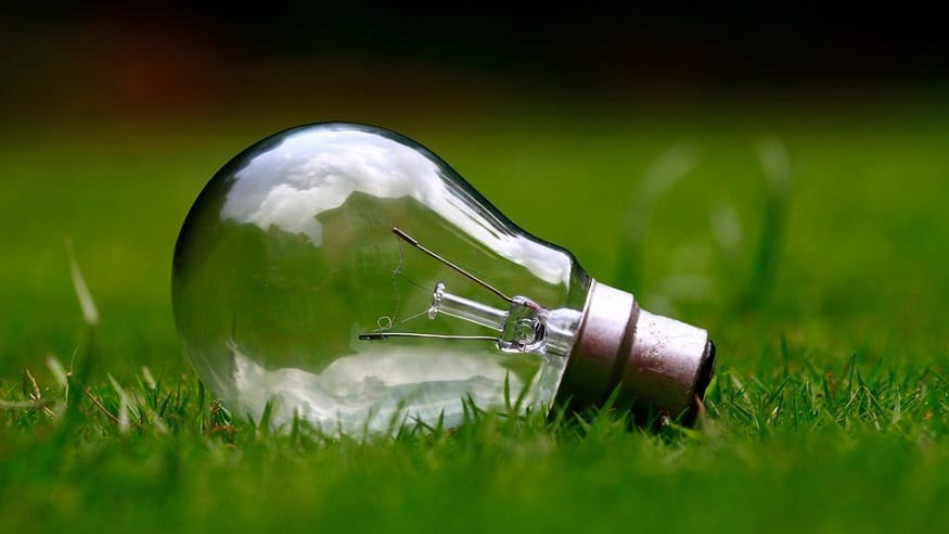 Renewable Energy Industry Insurance Claims - Lightbulb on Grass