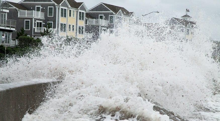 Hurricane Preparedness Week - big waves from hurricane