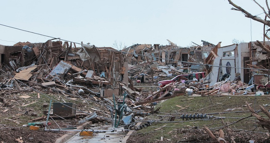 Tornado Insurance Claims - Disaster left after Tornado