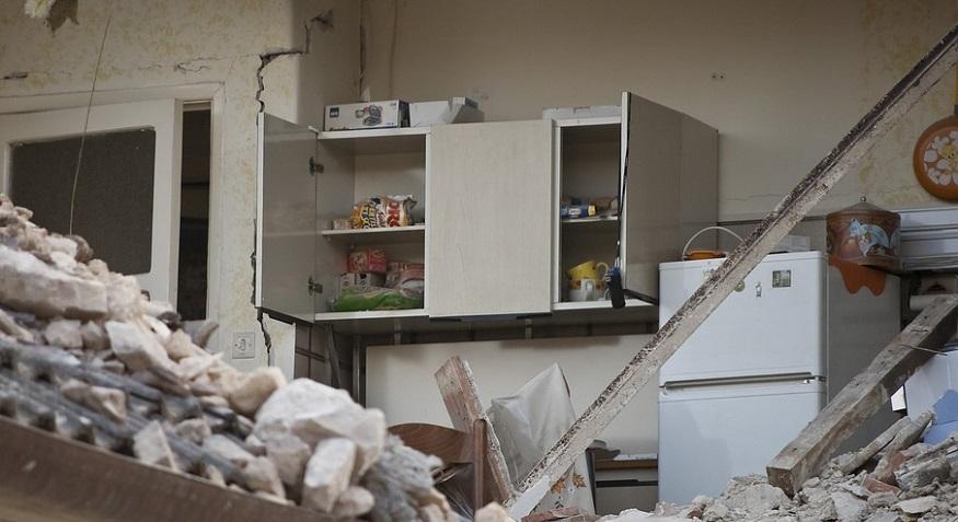 California earthquake insurance coverage - House after earthquake