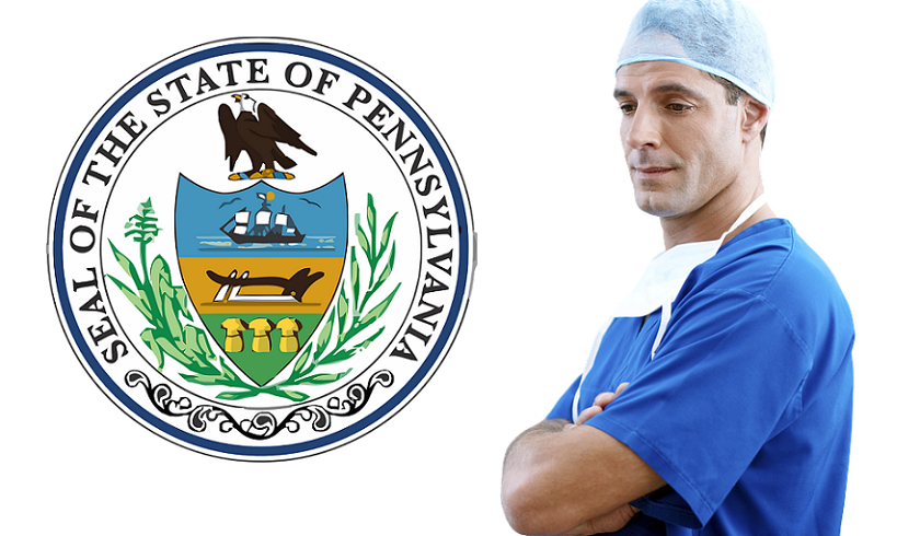Pennsylvania health care - Pennsylvania state seal & doctor