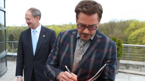 Life insurance start-up - Robert Downey Jr. visits the Embassy