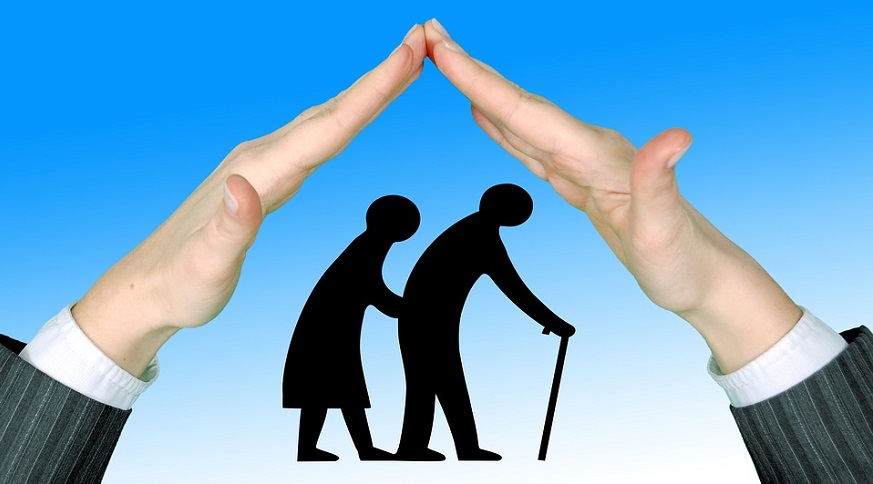 Traditional long term care insurance - Hand over senior citizens