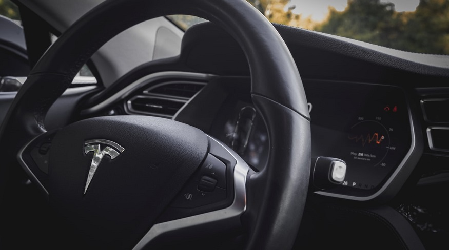 Tesla Insurance - Tesla Car - Steering wheel