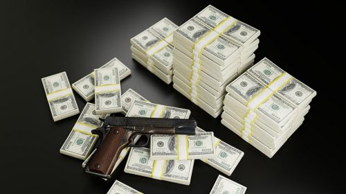 Gun insurance company - Money and gun