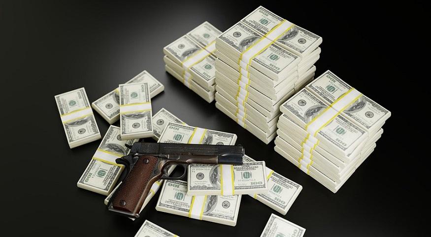 Gun insurance company - Money and gun