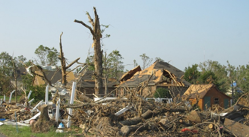 Natural Disaster Damage - Tornado destruction