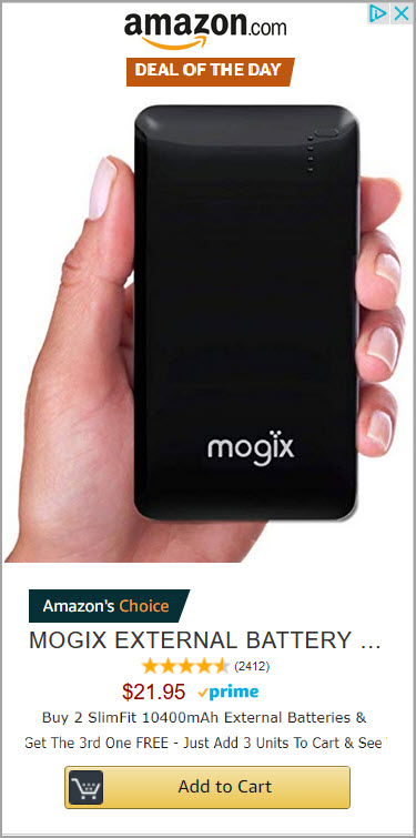 Amazon External Battery Sale