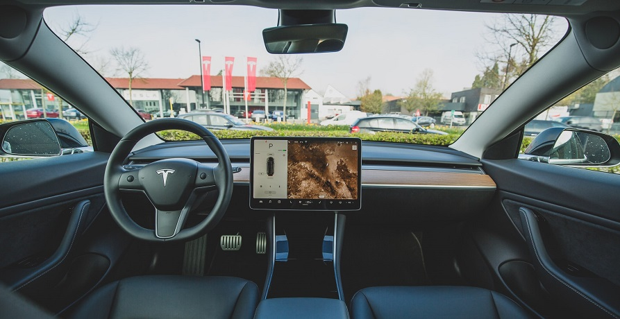 Autonomous vehicle safety regulations - Inside of Tesla car