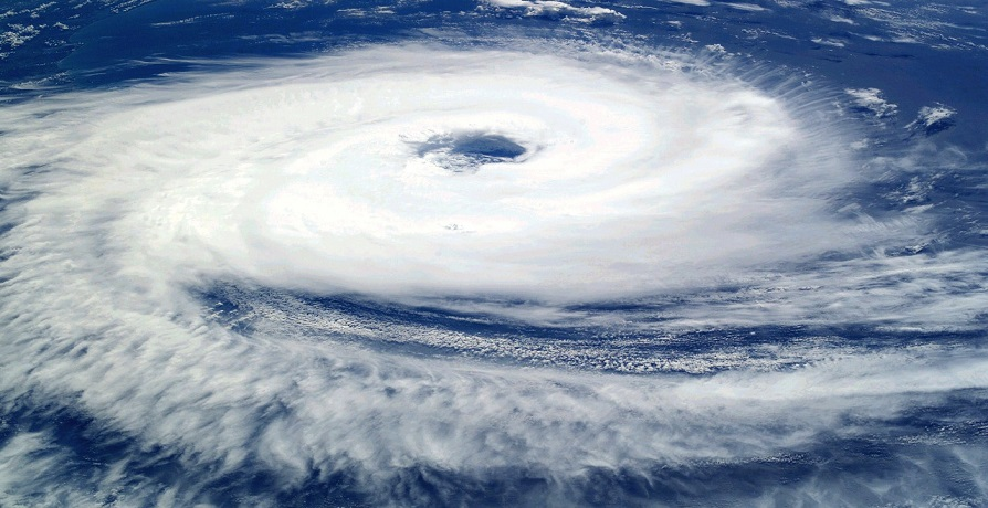 2020 Atlantic Hurricane Season - Hurricane seen from above