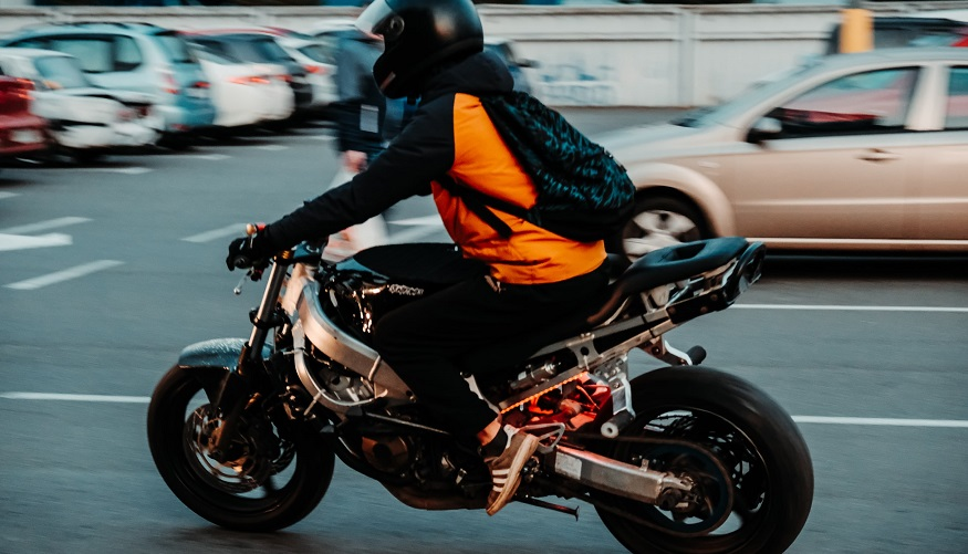 Auto insurance credits - person riding motorcycle