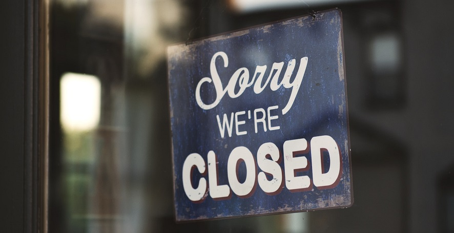 Unemployment insurance - Closed Business Sign