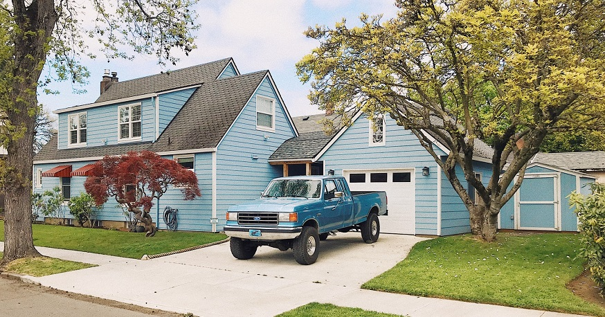 Auto insurance rebate Truck parked in driveway