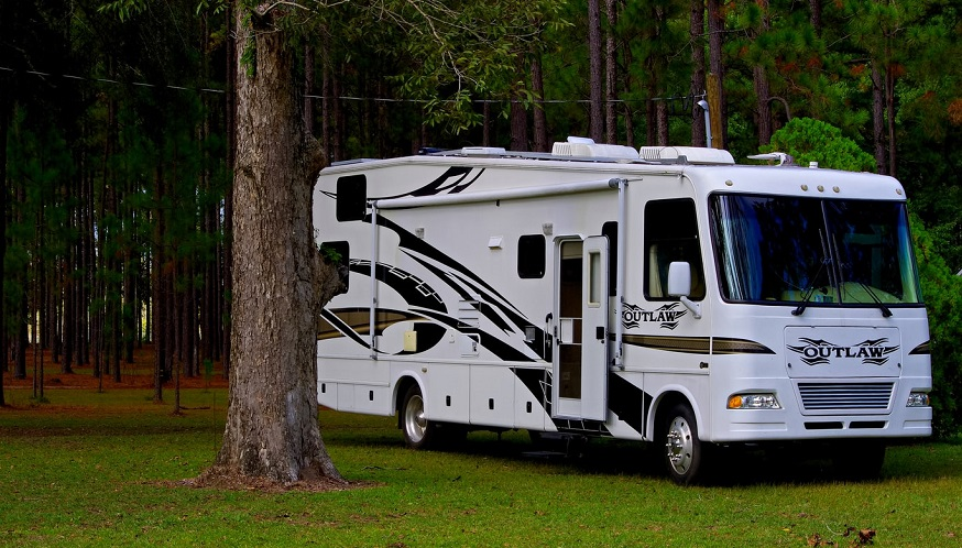 RV rental insurance - Recreational Vehicle in forest