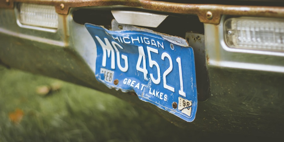 Michigan auto insurance law - Michigan license plate