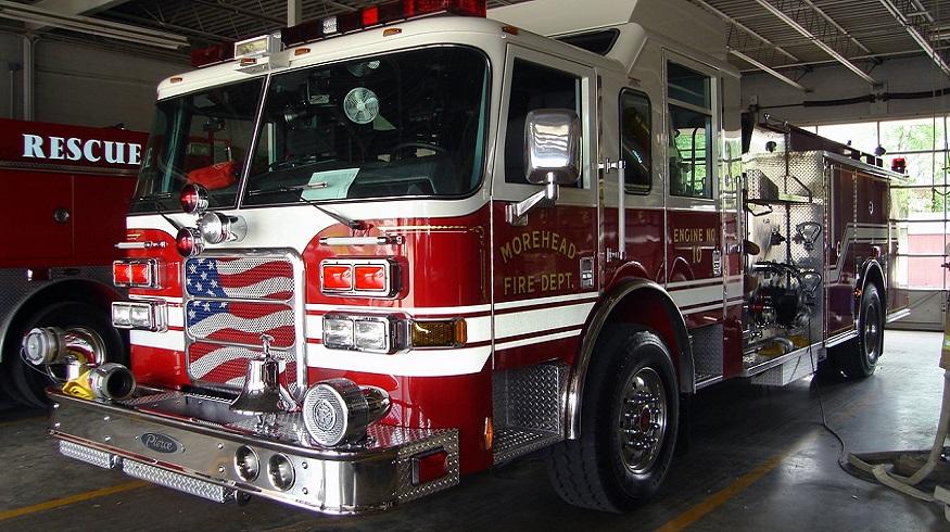 Blue Cross Blue Shield of NC - Fire truck in fire station