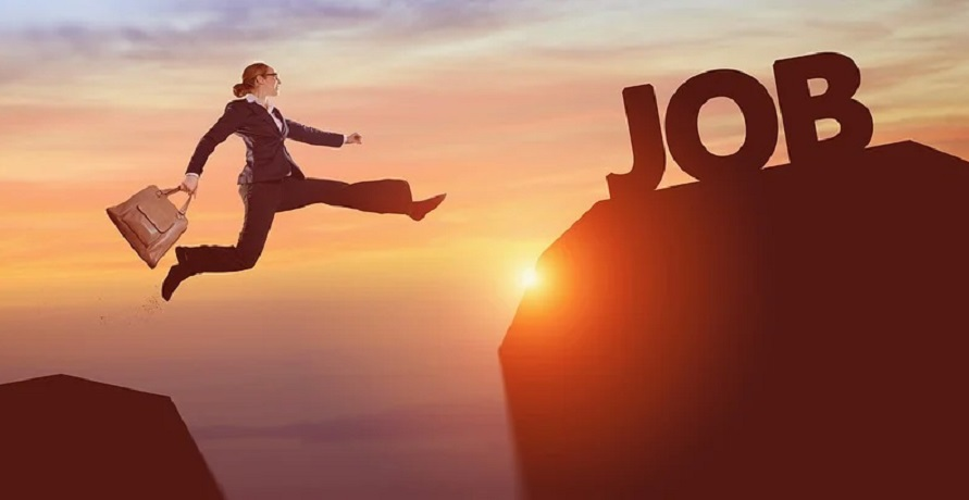 Unemployment insurance extension - Person leaping