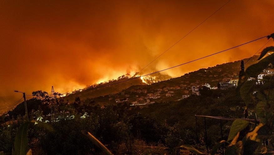 Wildfire insurance reimbursement - fire burning