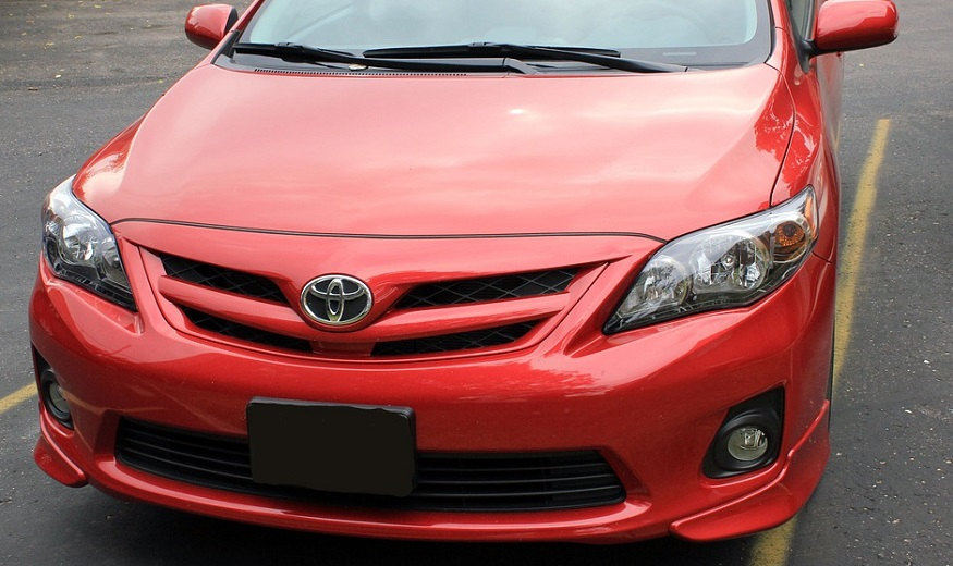 Toyota Insurance - Red Toyota Car