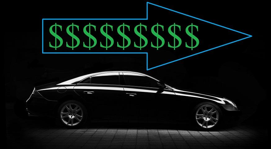 Car insurance rate increase - Car - money symbols - arrow