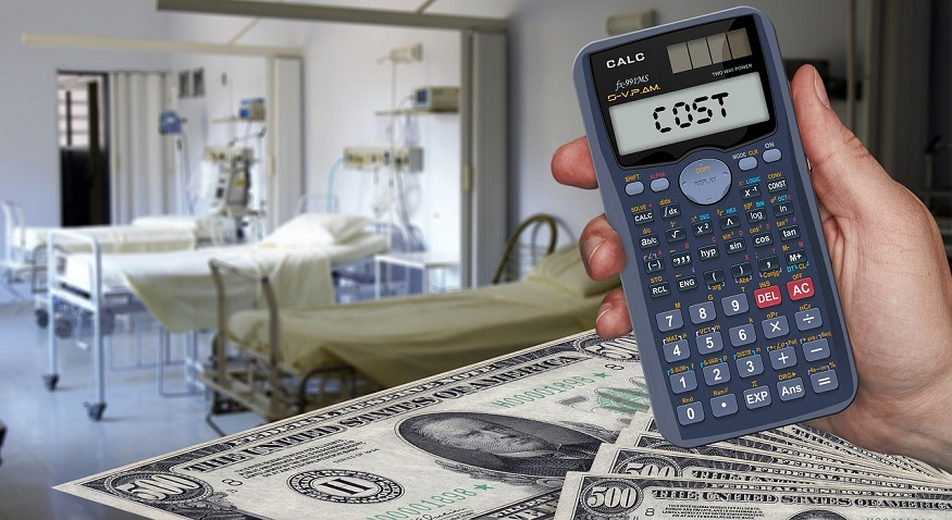 High health care costs - hospital - money - calculator