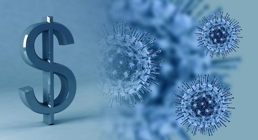 Life insurance shopping - dollar sign - virus
