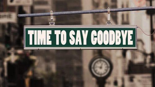 Aon Insurance Broker - Goodbye street sign