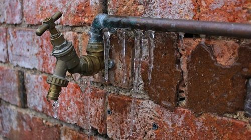 Frozen pipe losses - pipe frozen with icicles
