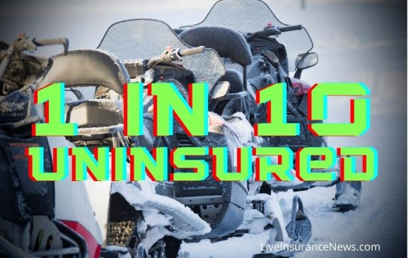 Snowmobile insurance were 1 in 10 are uninsured