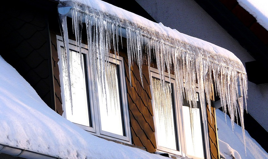 AAA Insurance - icicles on home roof