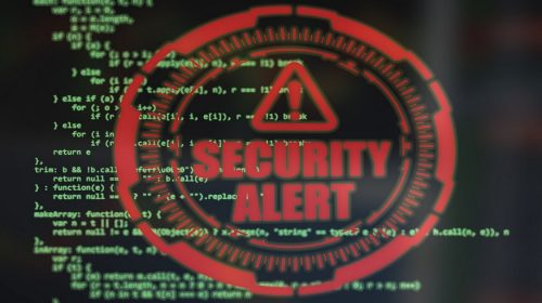 Insurance Industry Cyber risk - Computer code - Security Alert