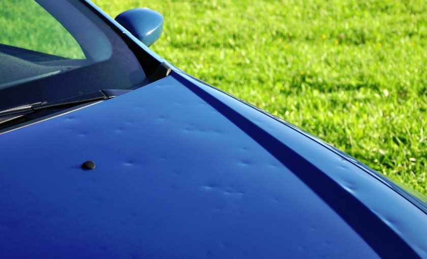car hail damage and what to look for