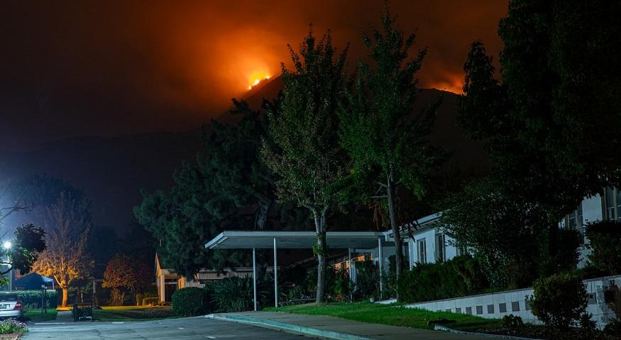 State Farm fire insurance - wildfire near home in California