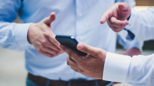 Auto Insurance App - people using phone