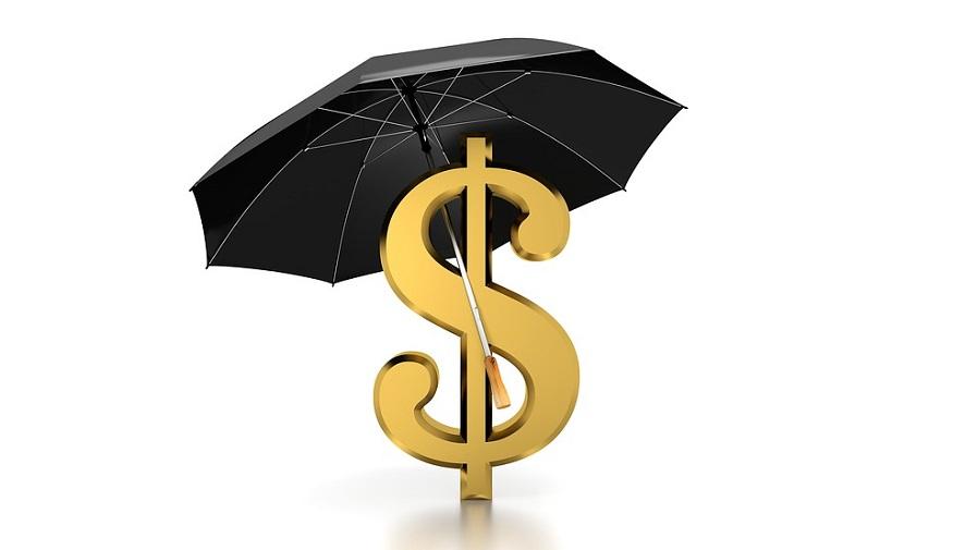 Flood insurance cost - umbrella covering dollar sign