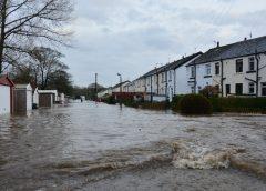 Flood insurance - flooded neighborhood