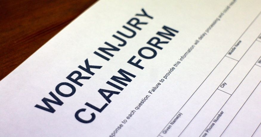 Workers compensation insurance - Work injury claim form