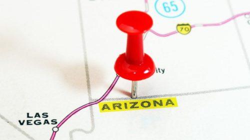 Arizona auto insurance - Arizona pinpointed on a map